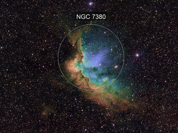 sh2-142 / NGC7380- The Wizard Nebula and open cluster in Cepheus