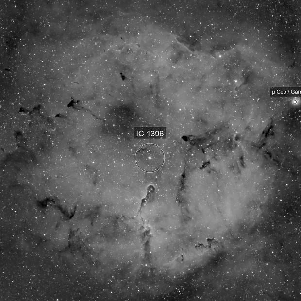 IC 1396 - Elephant Trunk Nebula Mosaic in Ha