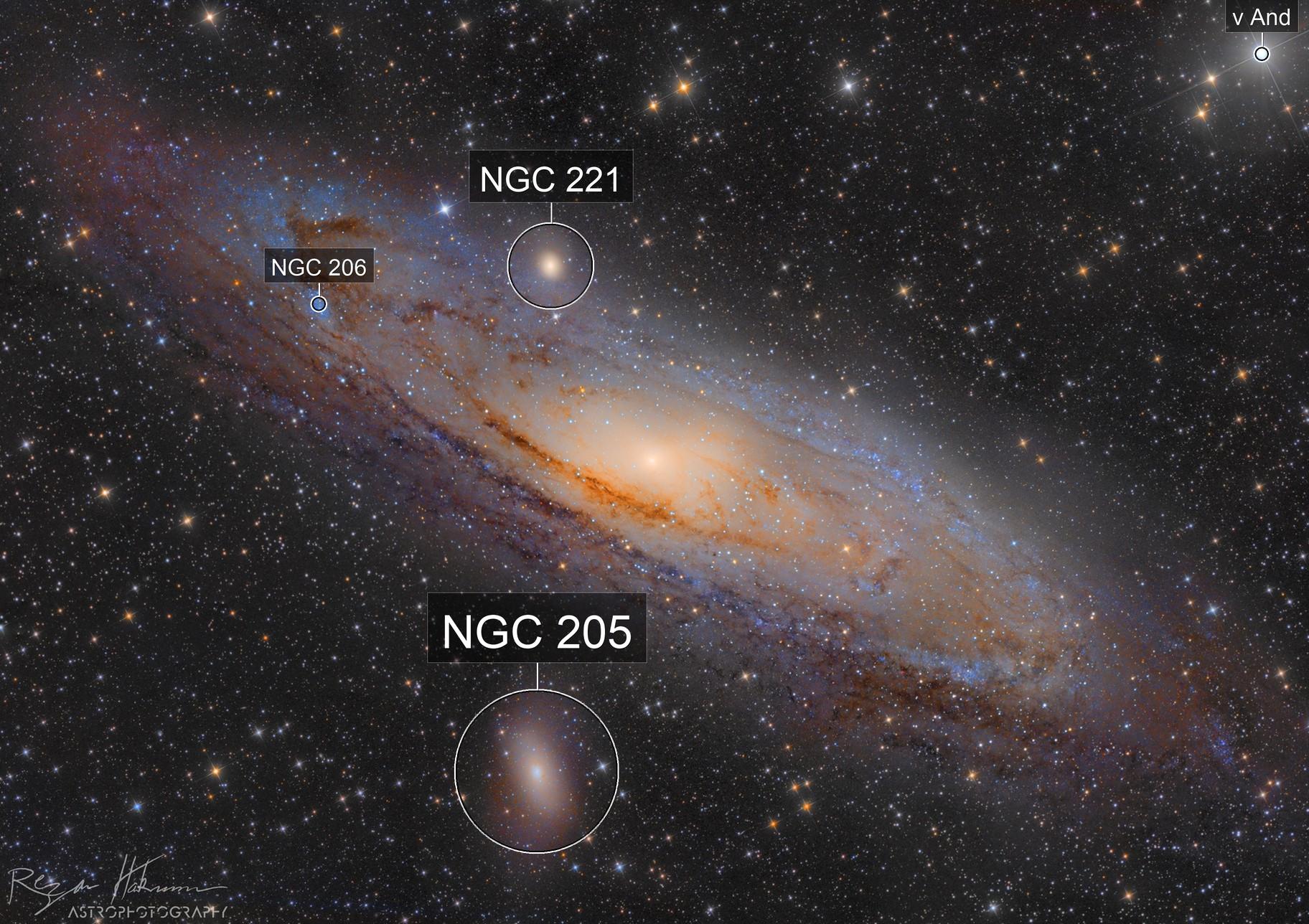 Wandering Fire ( M31 , The Andromeda Galaxy ) (3x3 mosaic)