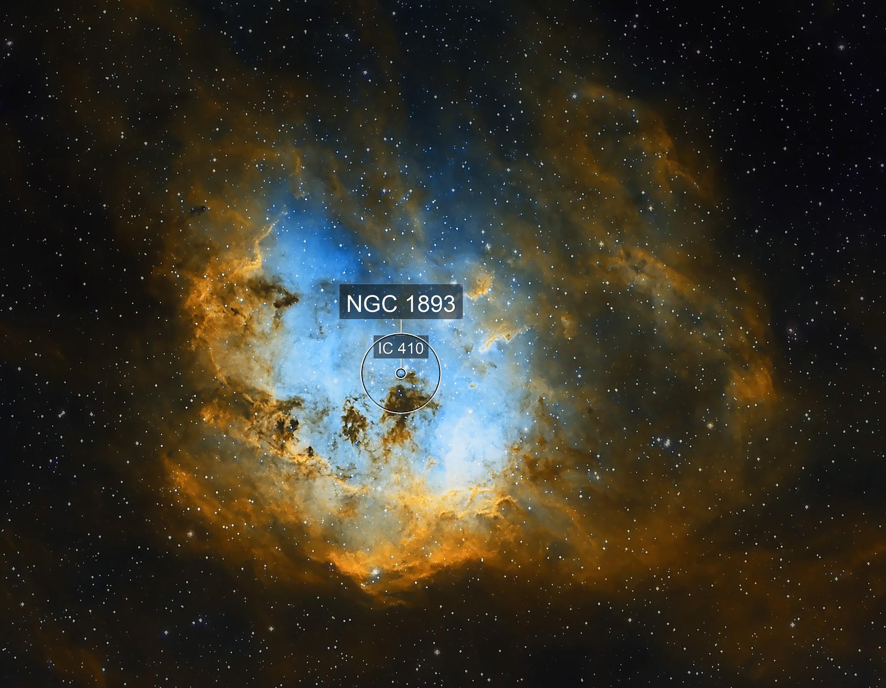 Tadepole Nebula IC 410