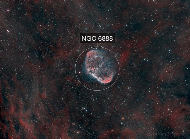 NGC 6888 - Crescent Nebula HOO (2019) & Soap Bubble