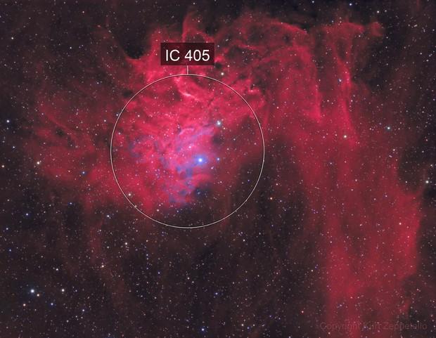 IC 405 - Flaming Star Nebula HaHaGB (2020)