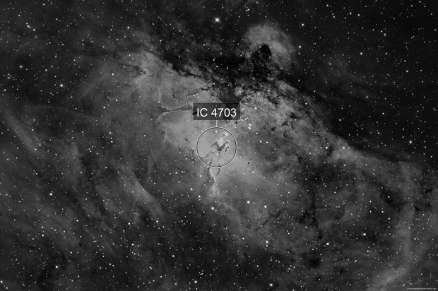 """First Light Image in H-Alpa using the William Optics 12"""" RC with the QHY600 Monochrome CMOS"""