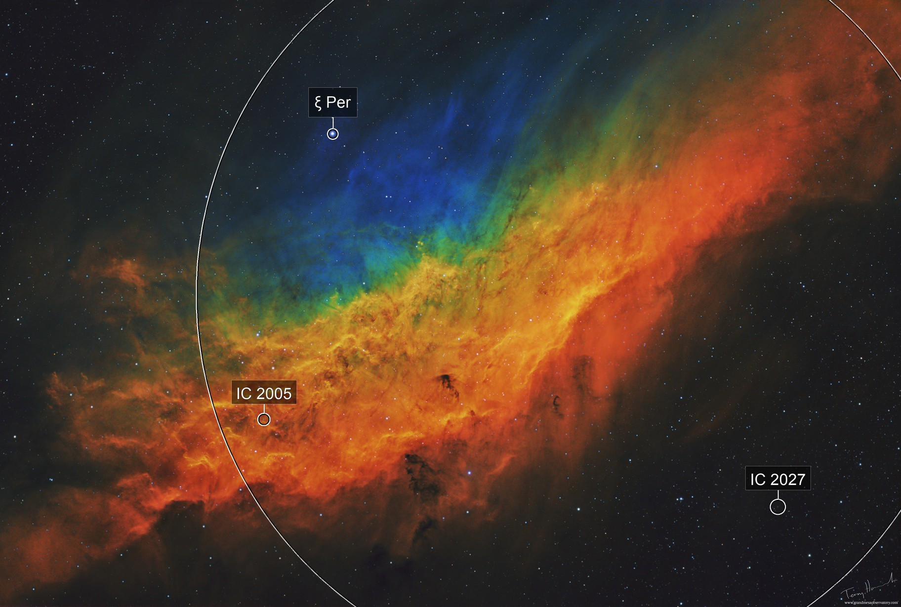 """The Golden State"" Nebula NGC 1499"