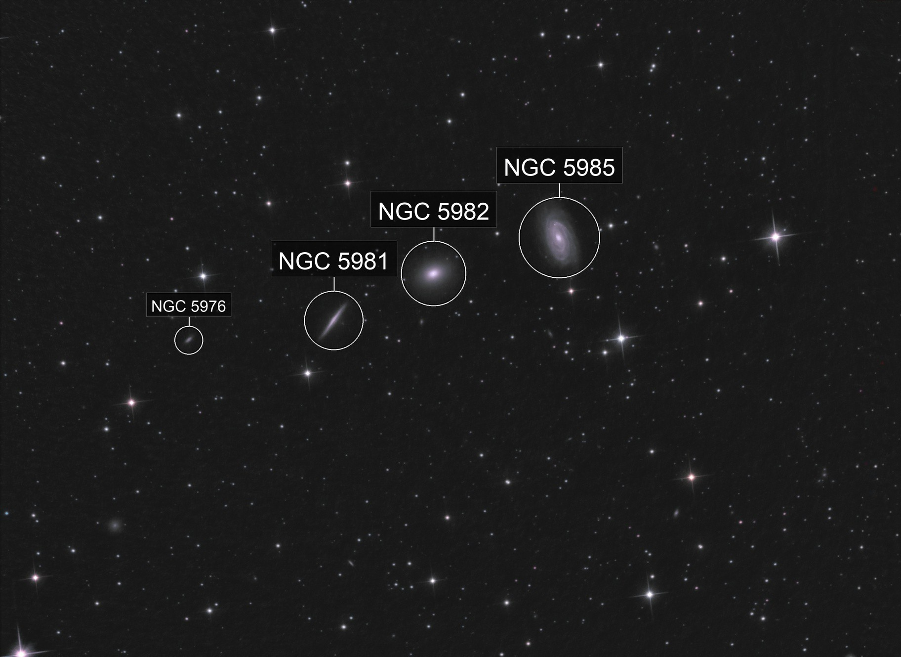 3+ Galaxies in Draco