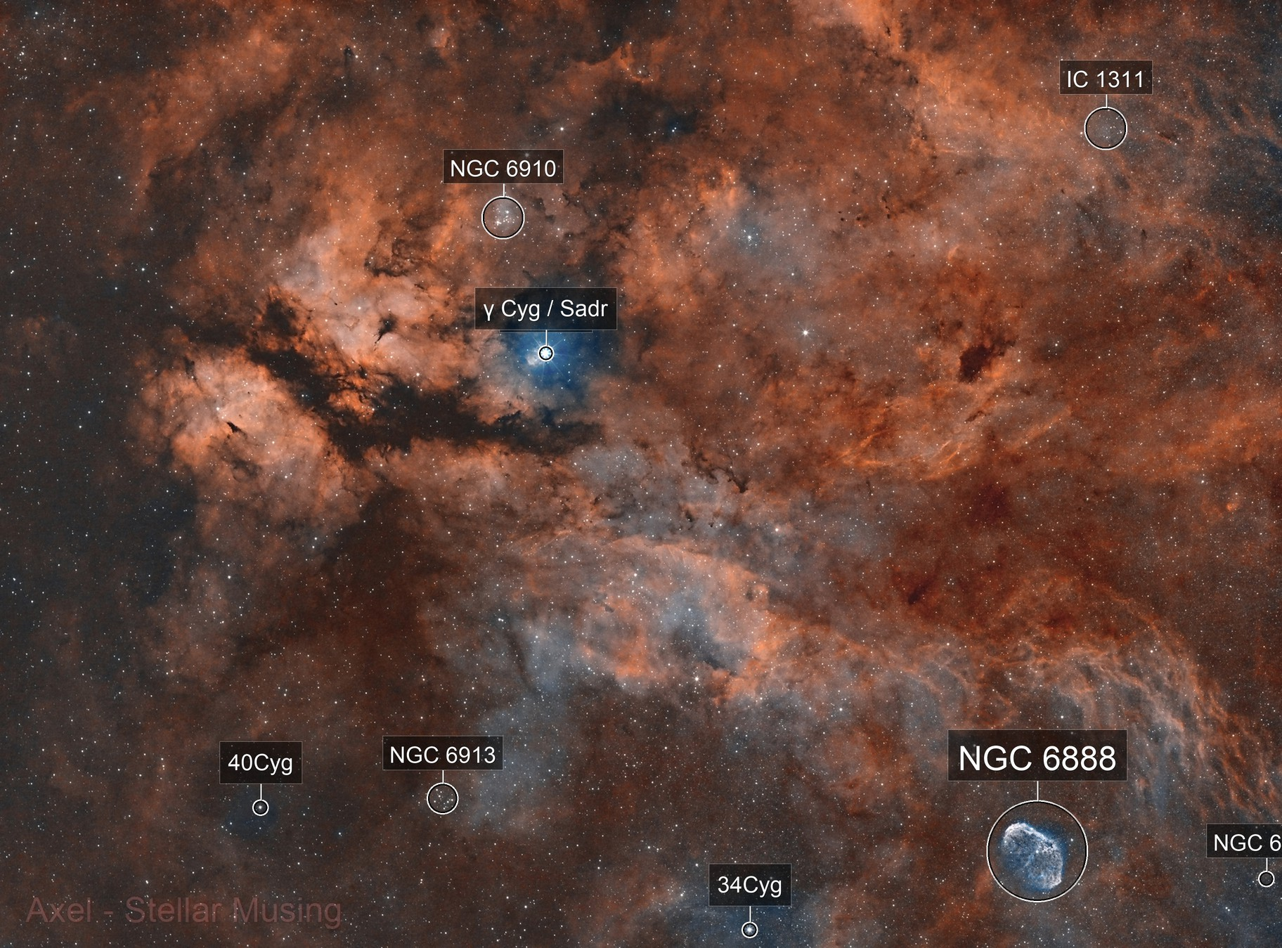 IC1318 - The blazing butterfly !