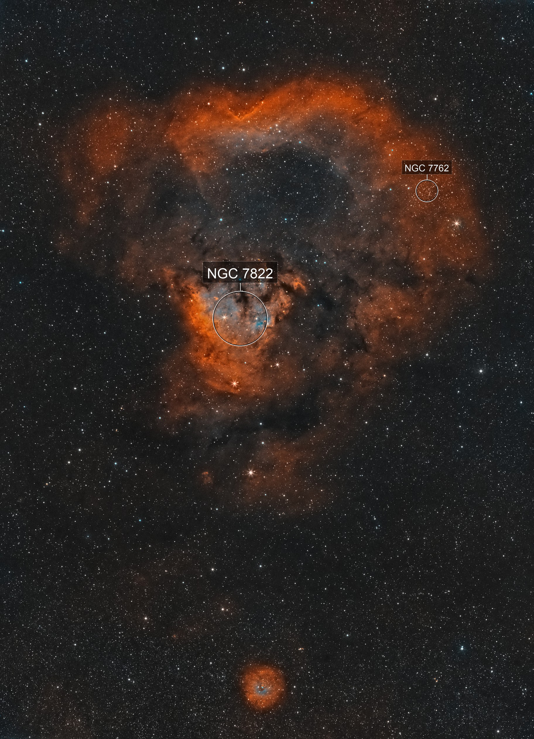 The Cosmic Question Mark (NGC7822) - widefield