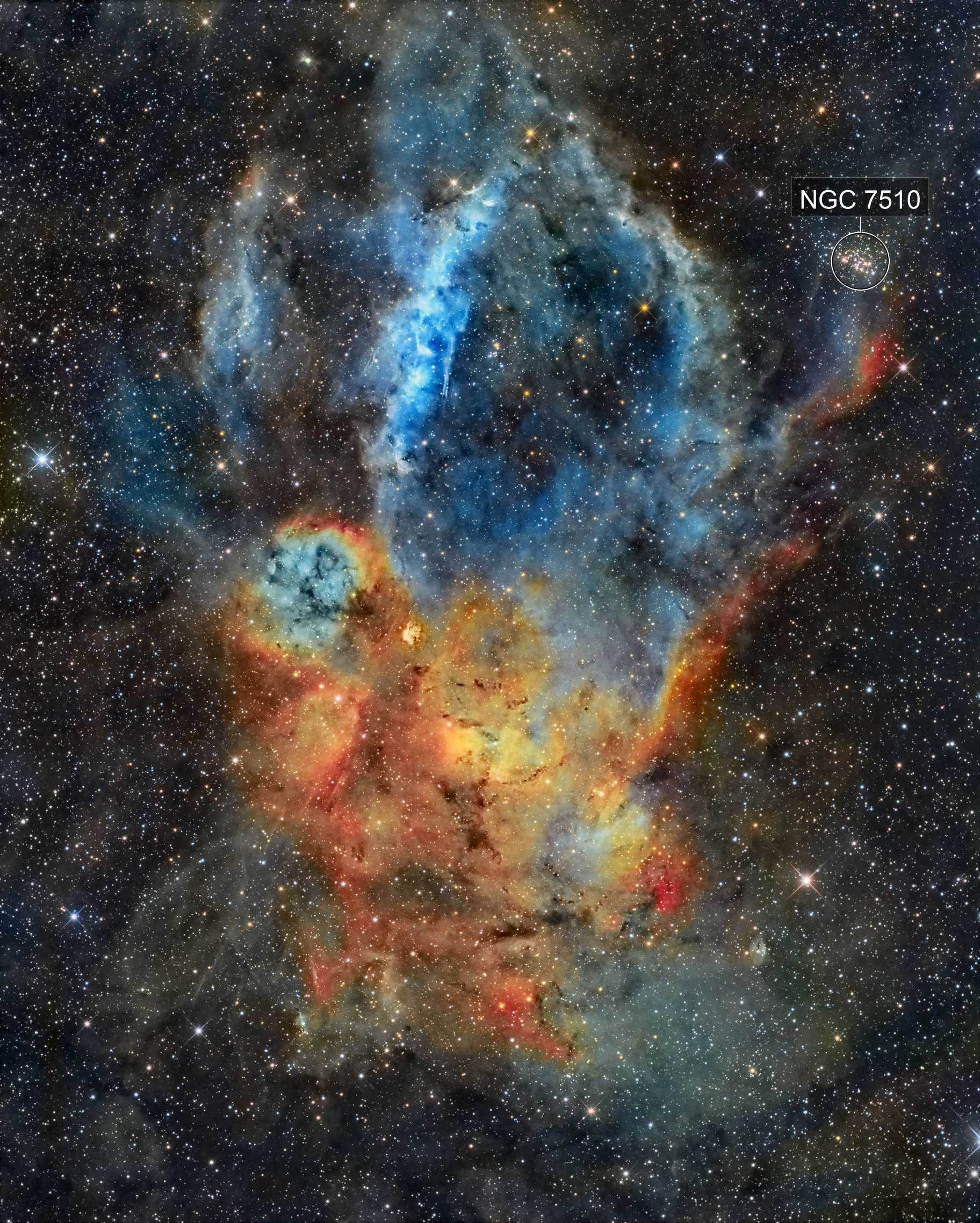 SH2-157 Lobster Nebula SHO