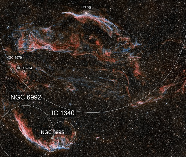 Veil Nebula, les Dentelles HO