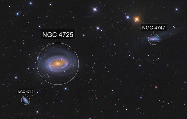 NGC 4725 & NGC 4747 | The One Arm Galaxy