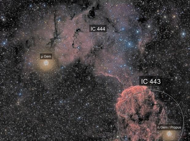 IC443 & SH2-249 - Medusa Nebula area -HaRGB