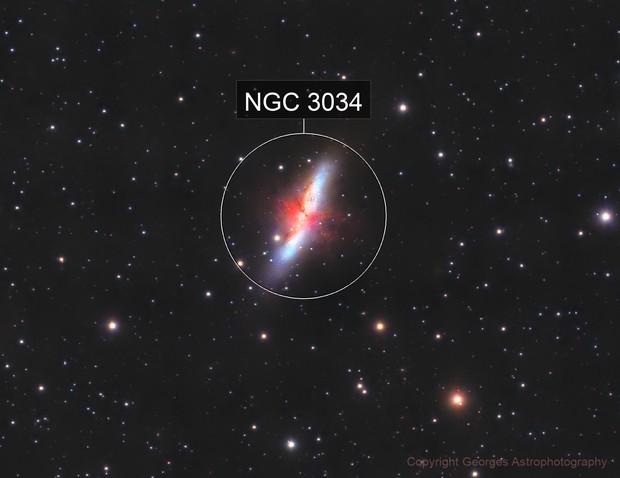 Messier 82 en LHaRVB crop