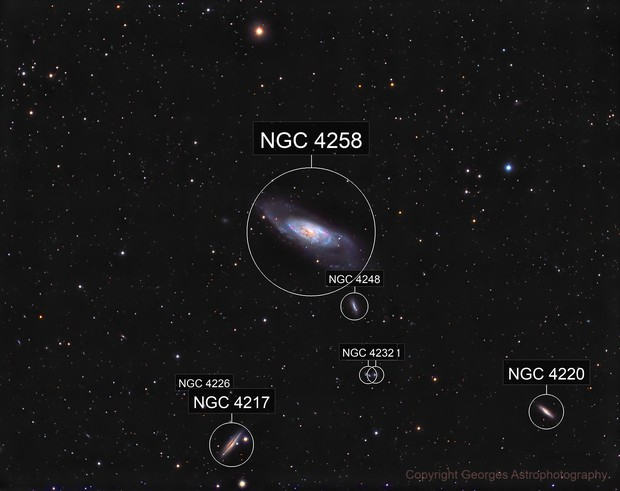 Messier106 and friends in HaLRVB