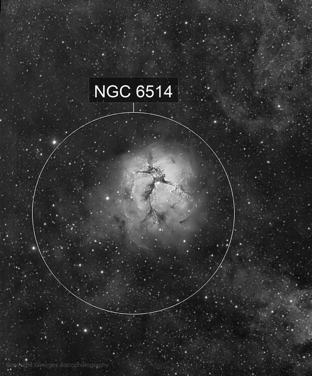 Messier 20 en Halpha
