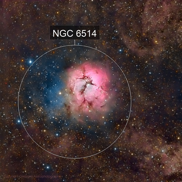 Messier 20 en HaRVB