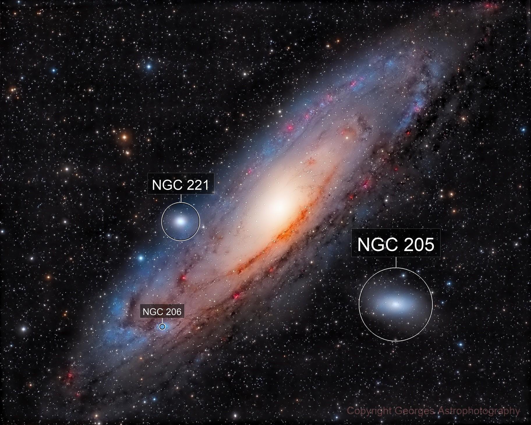 Messier 31 LHaRVB