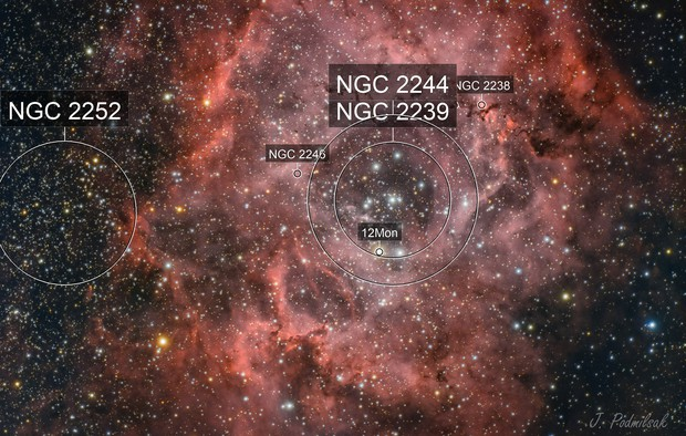 Rosette NGC2239 HaRGB
