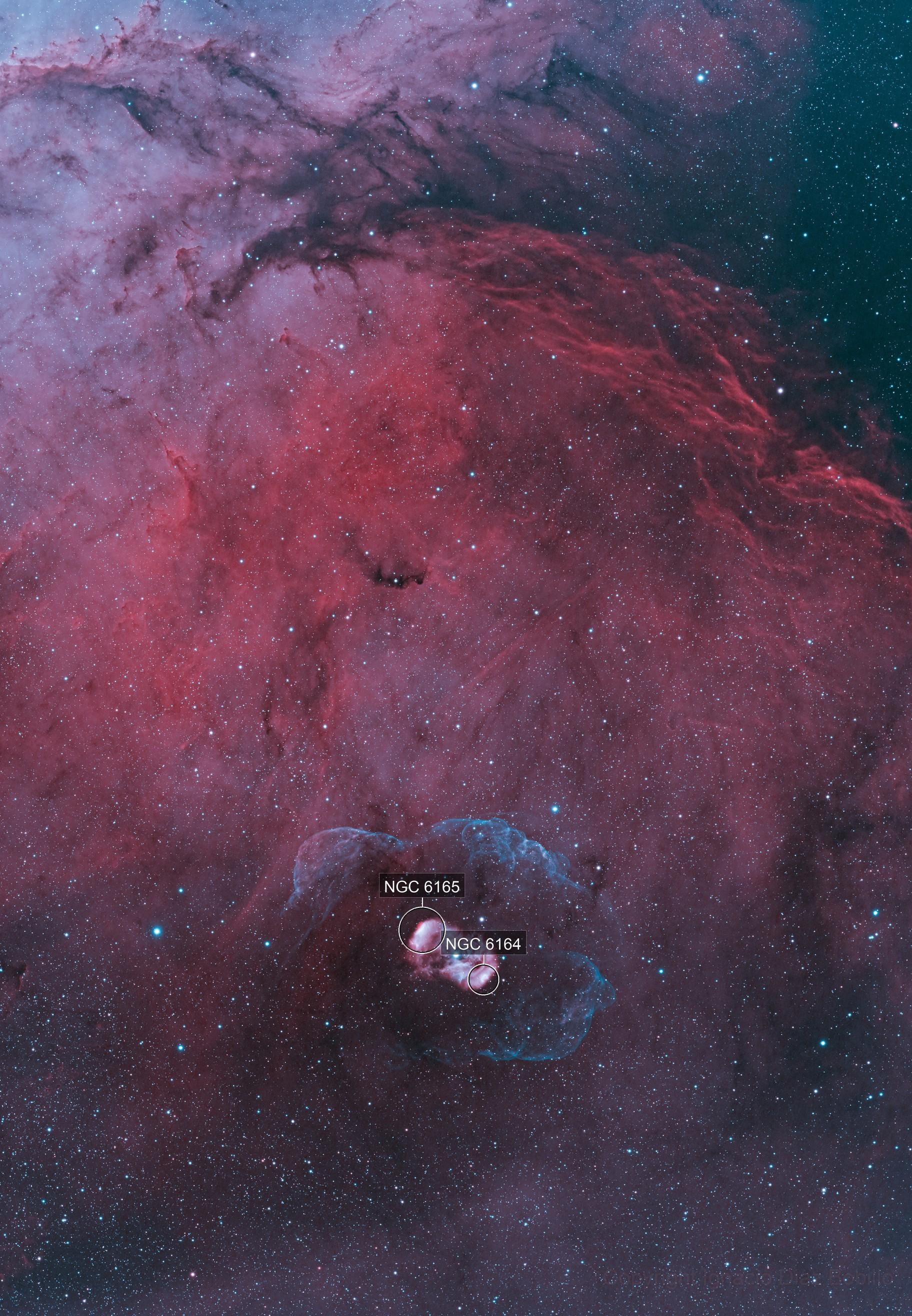 NGC 6164 and Surroundings