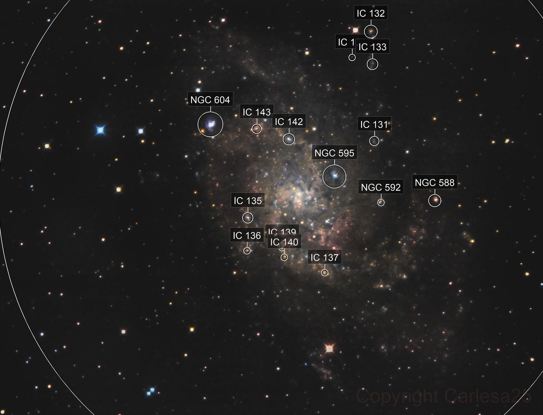 M 33 - Narrow field