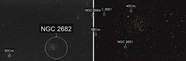 M-67 / NGC 2682 - Dual field