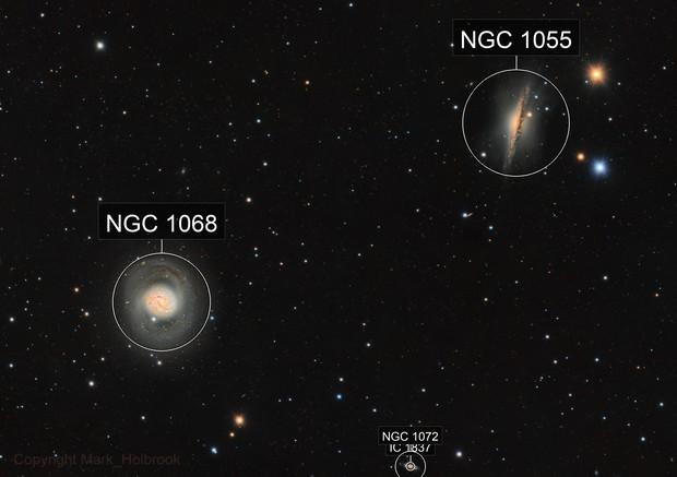 M77 and NGC1055