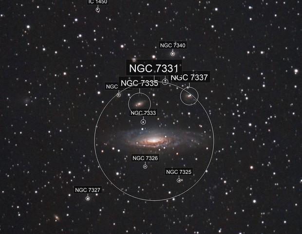 NGC 7331: ZWO 071MC Pro + 183MC uncooled combined data
