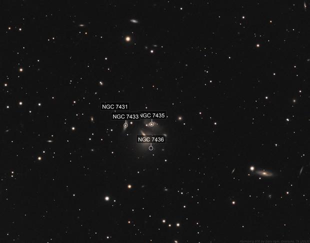 NGC 7436 Galaxy Group