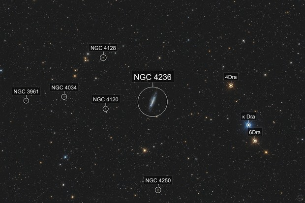 NGC 4236 in Draco (MGEN3 star-test)