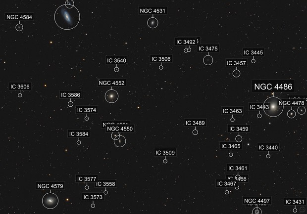 Another Area of the Virgocluster: M87, M89, M90 and M58