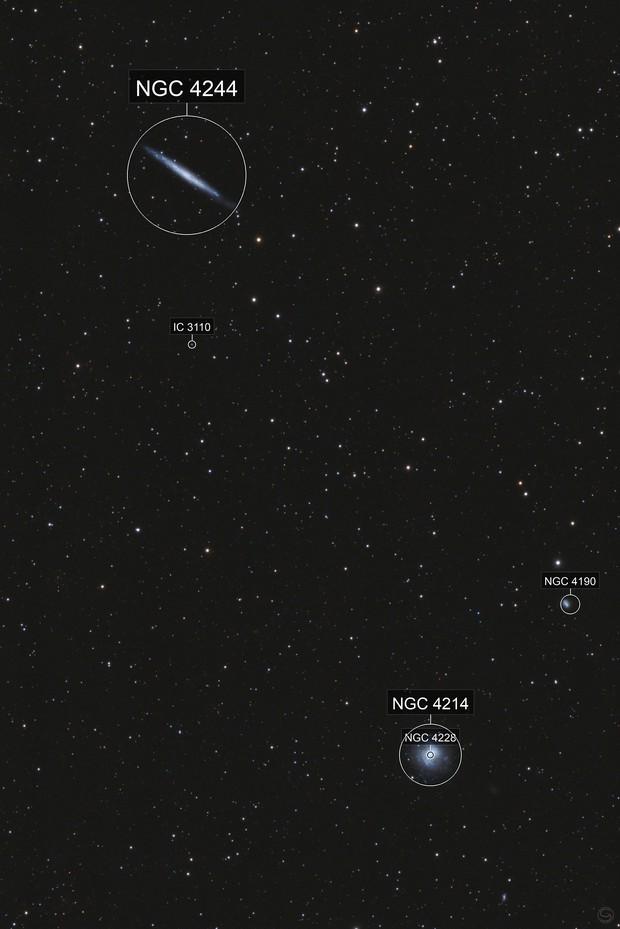 NGC 4244 & NGC 4214
