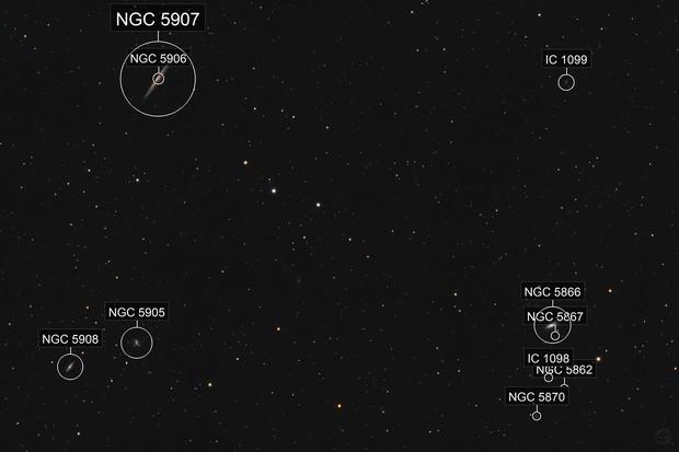 NGC 5907 & Friends