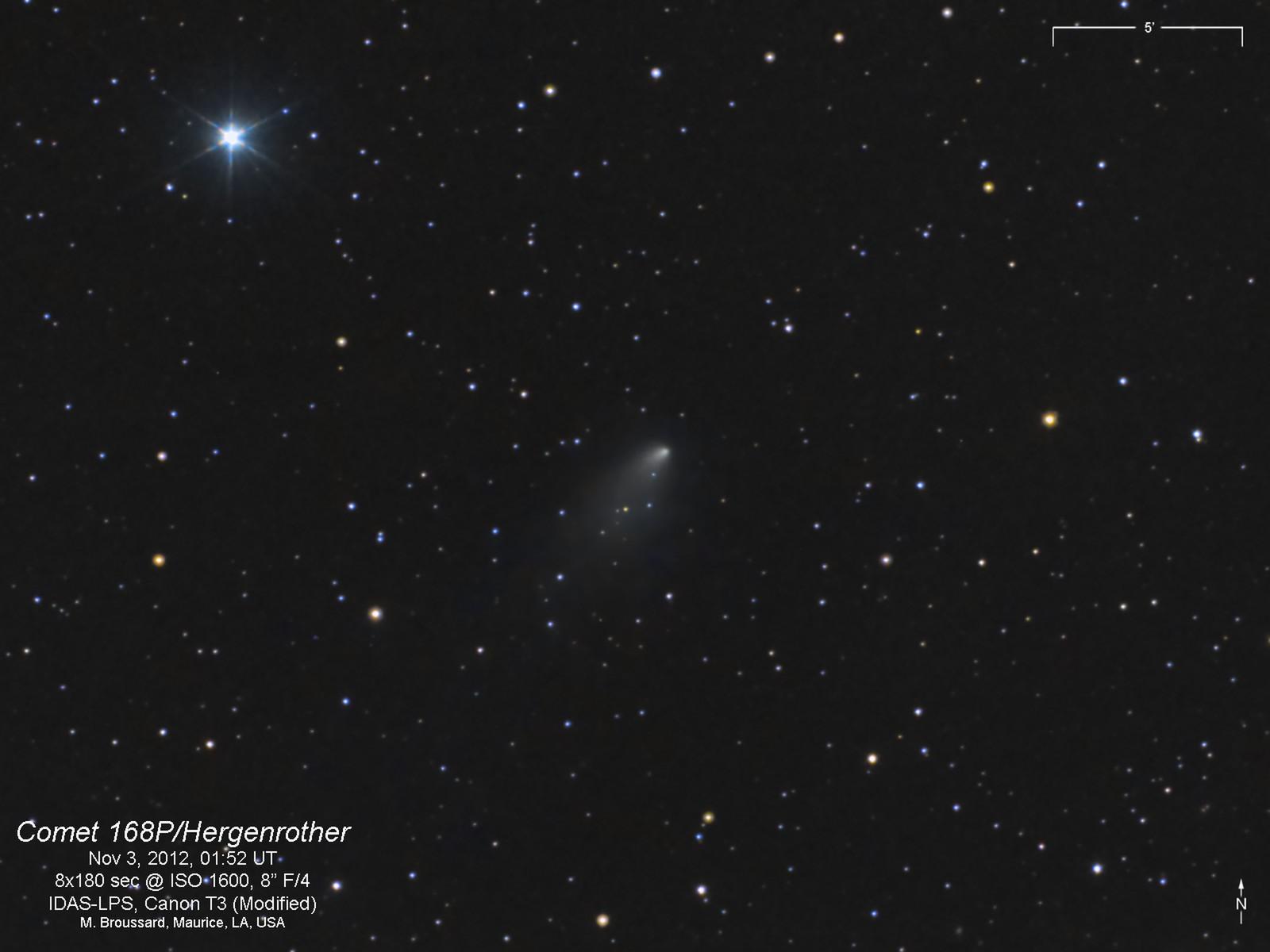 Comet 168P/Hergenrother on Nov 3, 2012