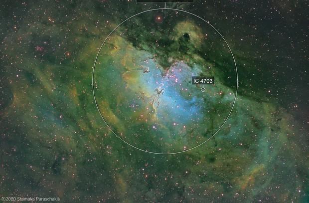 M16 Eagle Nebula (SHO-Hubble palette)