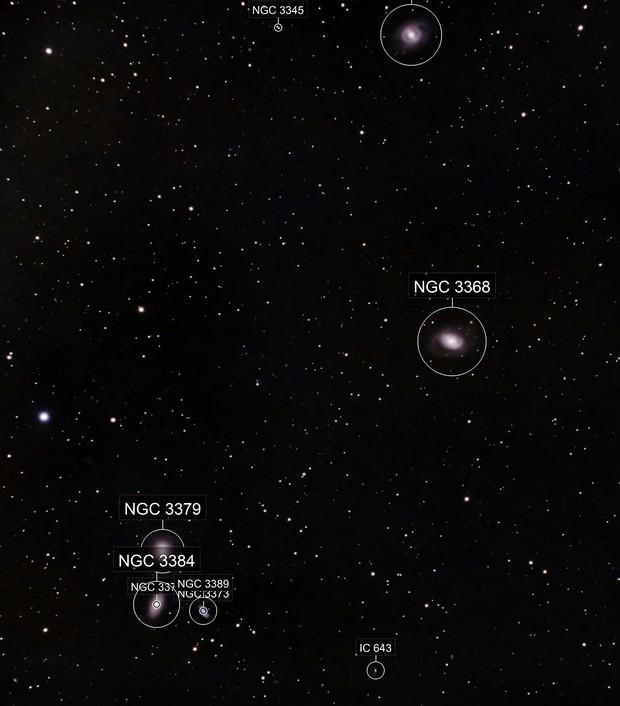 M95, M96, M105 in Leo
