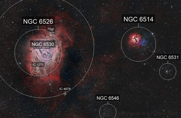 M8 Lagoon & M20 Trifid nebula