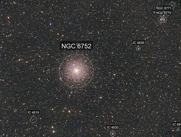 NGC6752 the Great Peacock Cluster