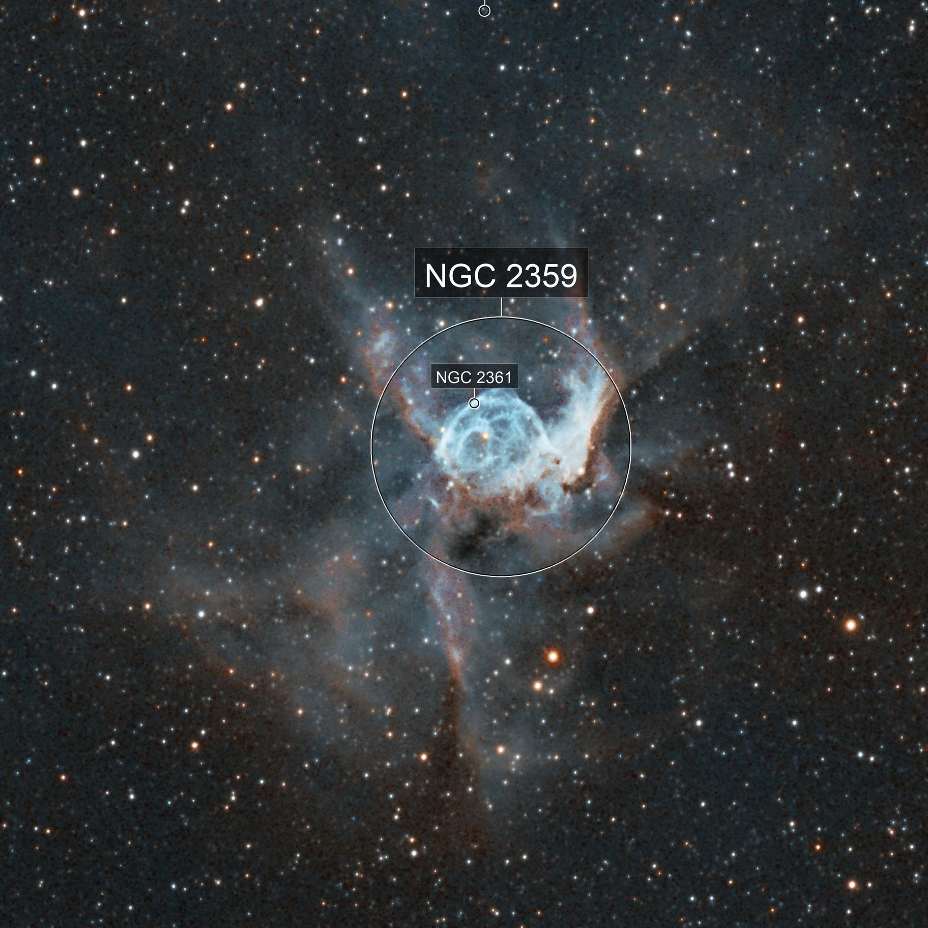NGC2359 Thor's Helmet Bi-Colour