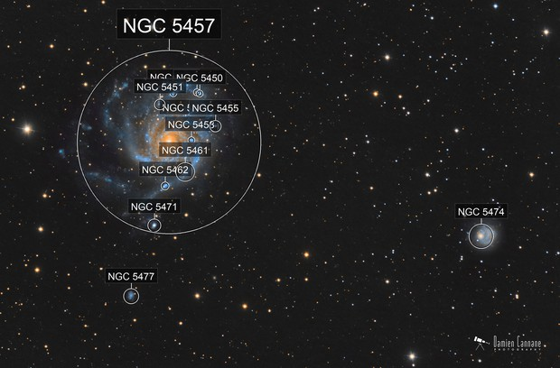 NGC 5474 - Dwarf Galaxy in Ursa Major