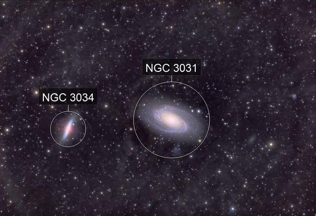 Messier 81/82 - Bode's Galaxy and the Cigar - QHY600 - Esprit 150 - LRGB Ha