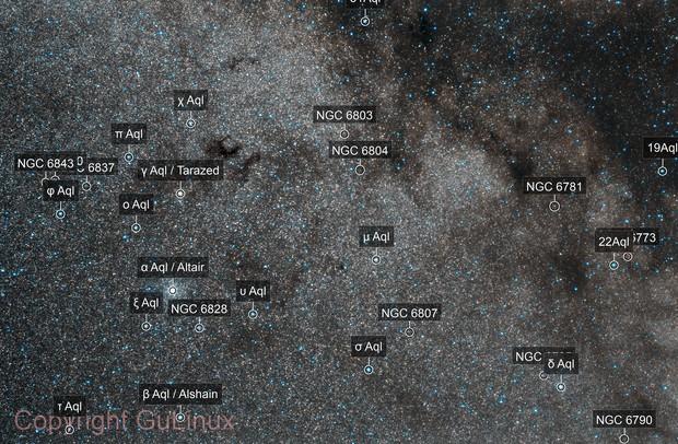 Milky Way around Aquila