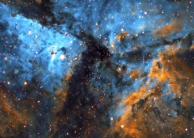 Core of Carina Nebula and  Bright Eta Carinae