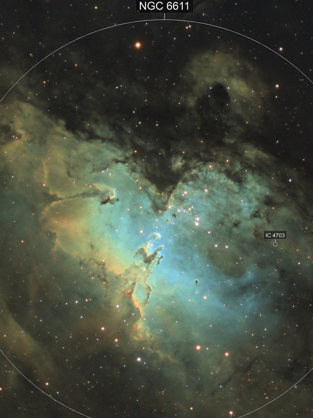M16 - The Eagle Nebula, Close-Up Version [SHO]