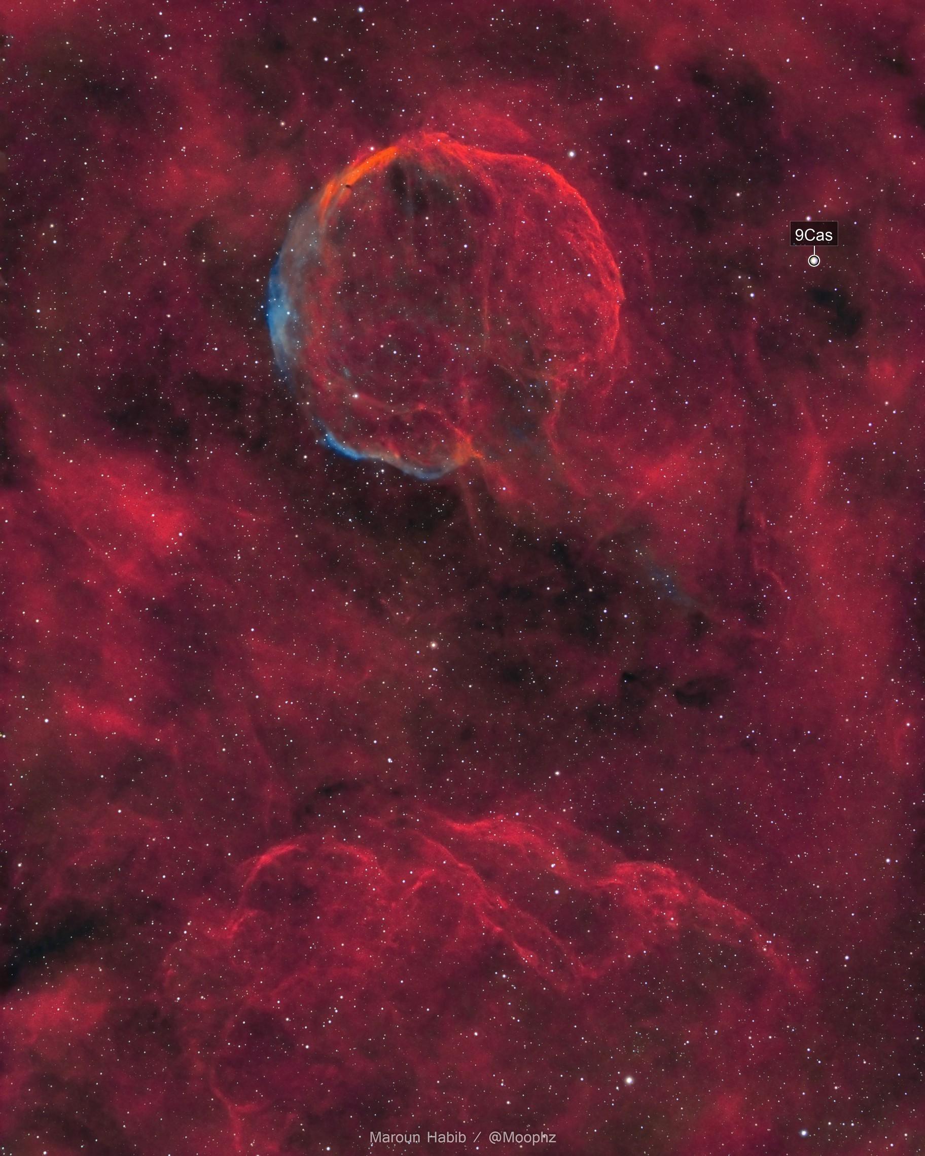 The Garlic Nebula / CTB1 / Abell 85 / LBN576 in HOO+RGB