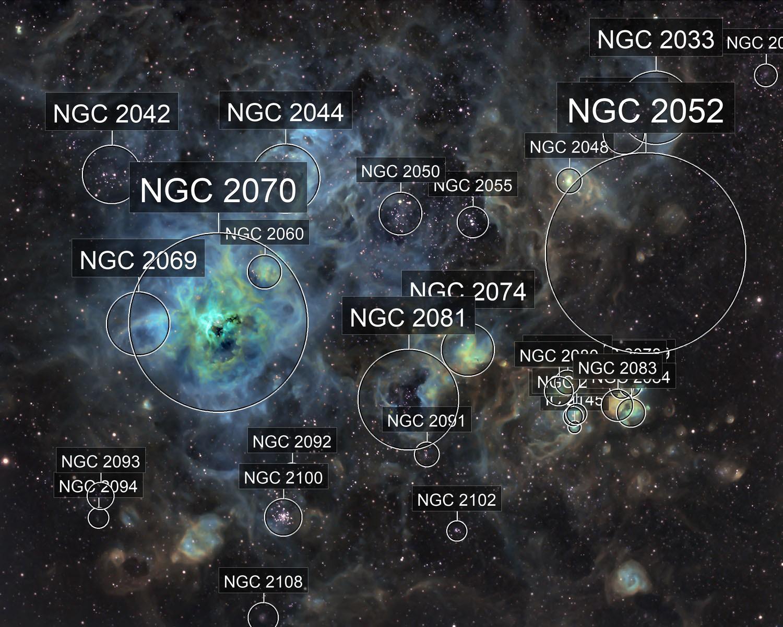 NGC 2070 narrowband