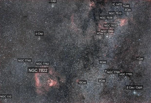 NGC 7822(constellation de Céphée)