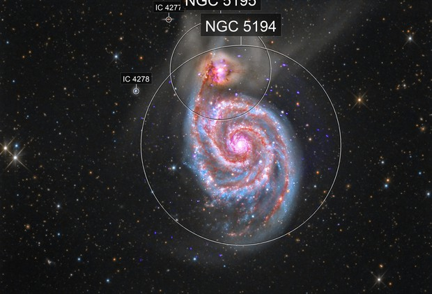 M 51 (Multiwavelength composite image)