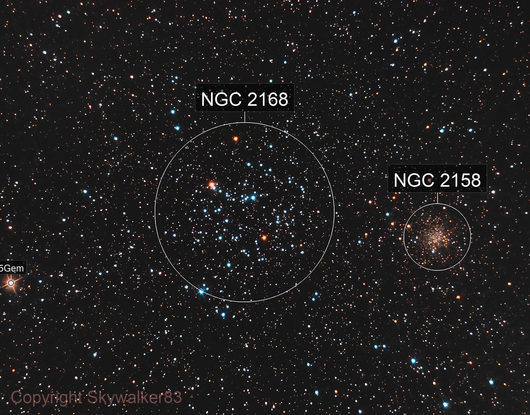 M 35 + NGC 2158