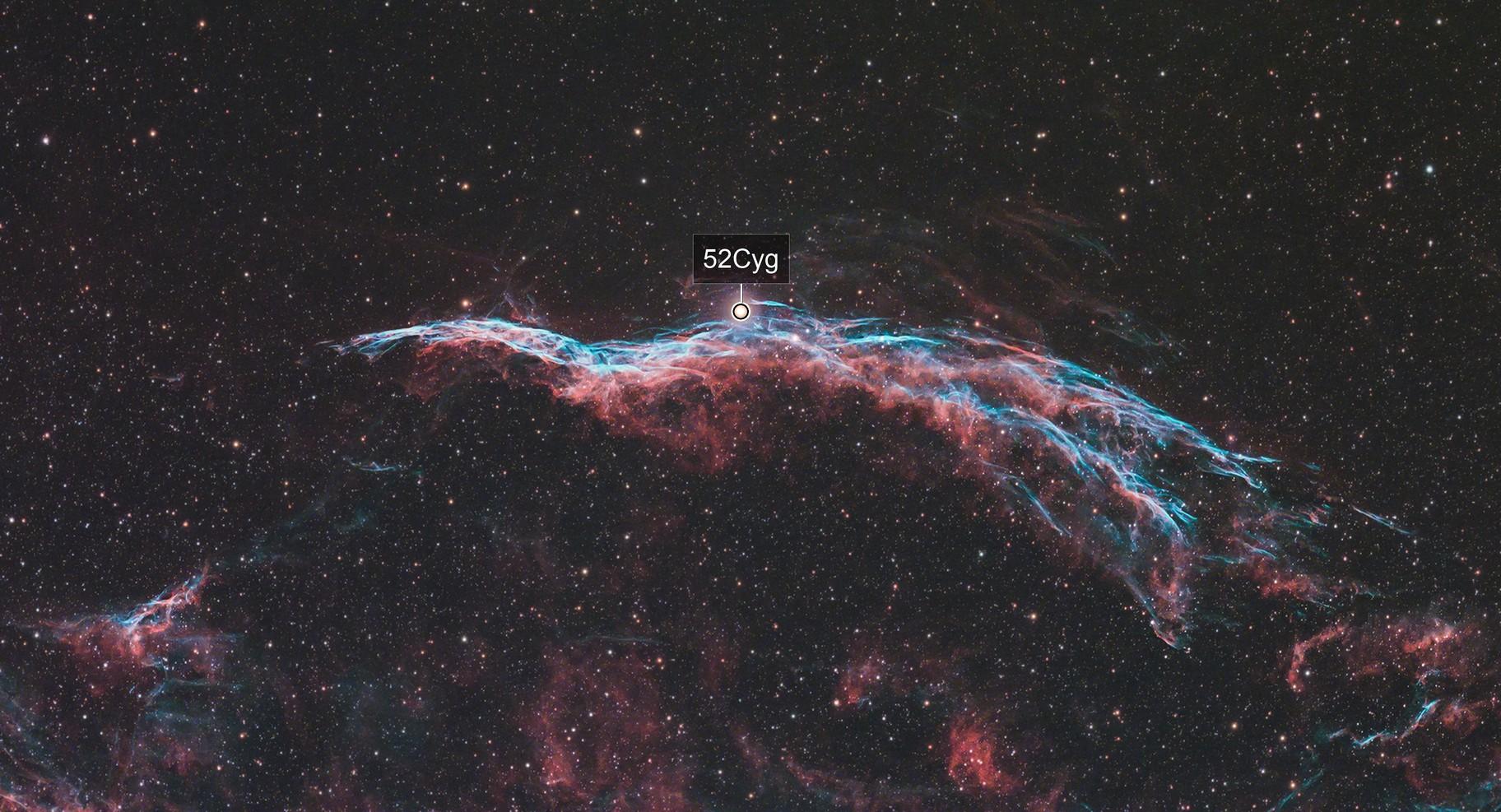 Western Veil Nebula (Optolong L-eXtreme)