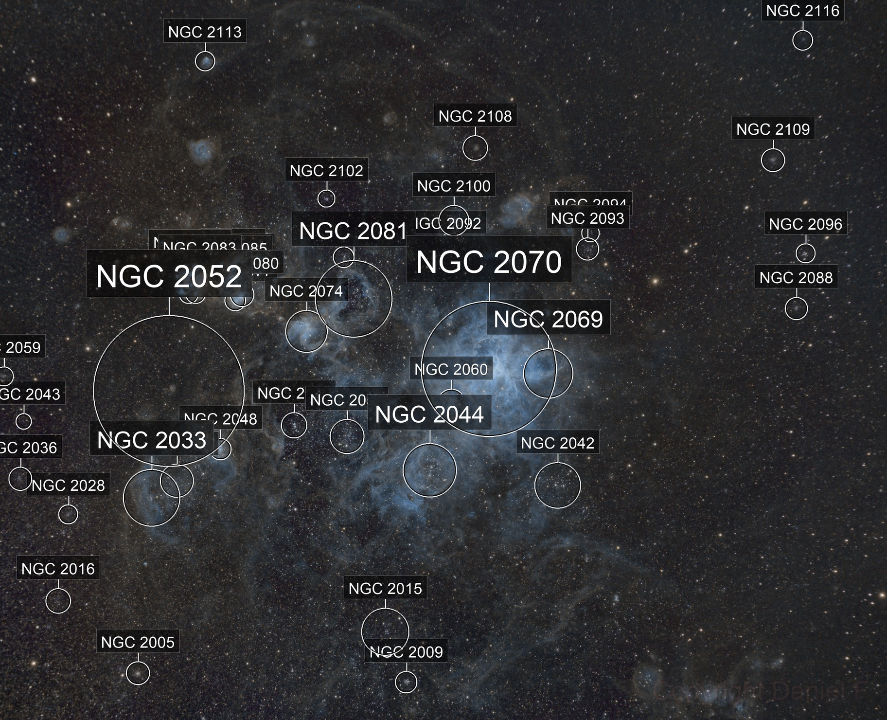 Tarantula Nebula in Narrowband