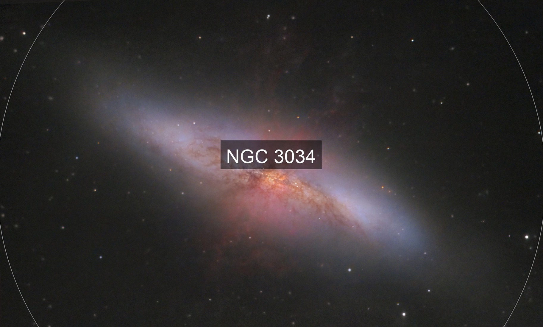 M82, Color and IR with Playerone NeptuneCII